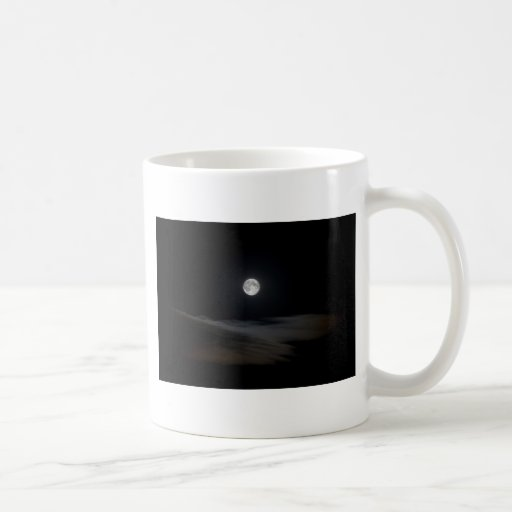 Moon over Clouds Coffee Mugs