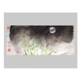 Moon over Grass Postcard