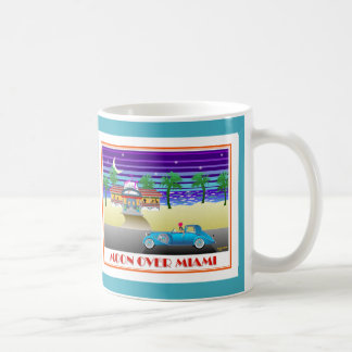 Moon Over Miami Aqua Coffee Mug
