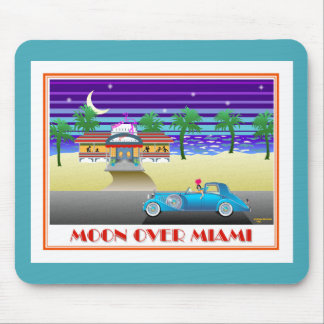 Moon Over Miami Aqua Mousepad