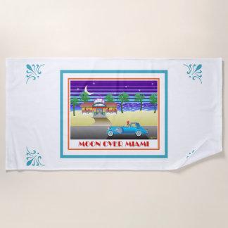 Moon Over Miami Beach Towel