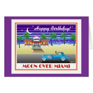 Moon Over Miami Birthday Purple Card