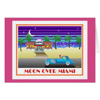 Moon Over Miami Pink Card