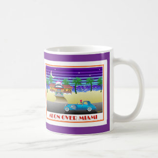 Moon Over Miami Purple Coffee Mug