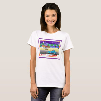 Moon Over Miami Purple T-Shirt