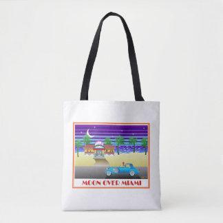 Moon Over Miami Tote Bag