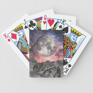 Moon Over Mountain Lake Bicycle Playing Cards