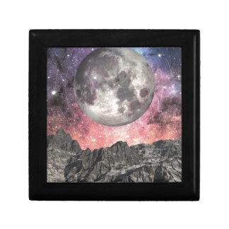 Moon Over Mountain Lake Gift Box
