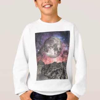 Moon Over Mountain Lake Sweatshirt