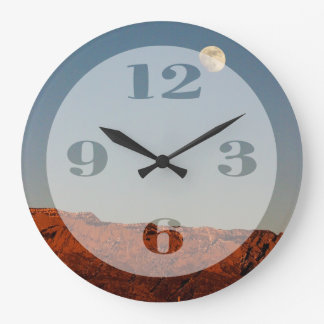 Moon Over Sandias Large Clock