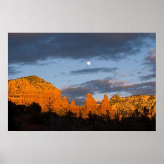 Moon Over Sedona, Arizona 2226 Poster