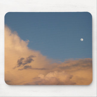 Moon over the clouds mouse mats
