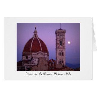 Moon over the Duomo Card
