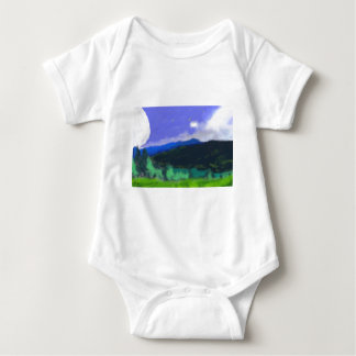 Moon Over the Land 2 Art Baby Bodysuit