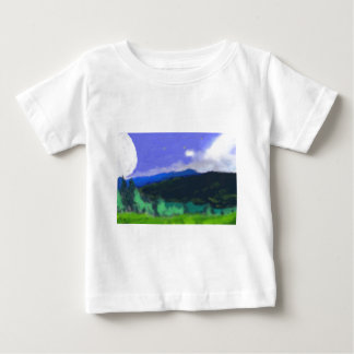 Moon Over the Land 2 Art Baby T-Shirt