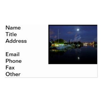 Moon Over Treasure Island Business Card Templates