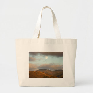 Moon over Vineyards Large Tote Bag