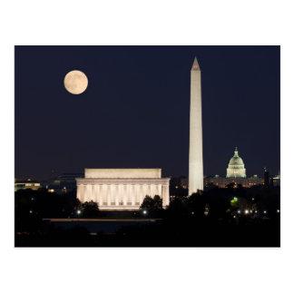 Moon over Washington DC Postcards