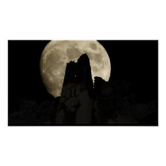 moon over wolfer monasteries poster