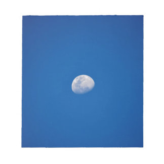MOON PHASE DAY TIME SKY NOTEPAD