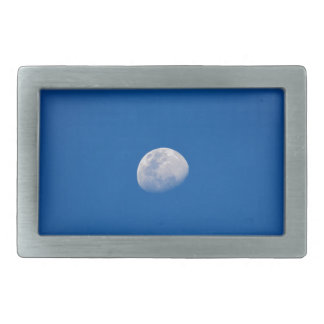 MOON PHASE DAY TIME SKY RECTANGULAR BELT BUCKLE