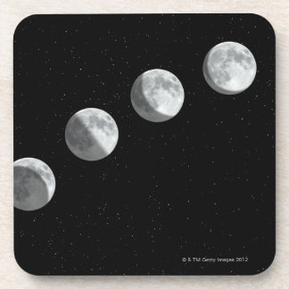 Moon phases drink coasters