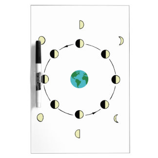 Moon Phases Dry Erase Board