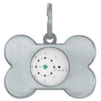 Moon Phases Pet Tag