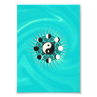Moon Phases, Sun & Yin Yang - Polarity & Duality Photo Print