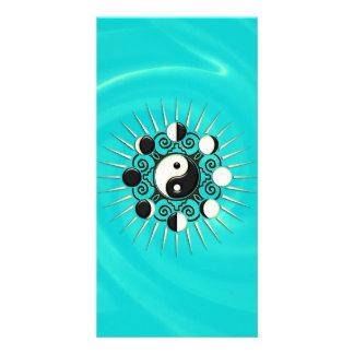 Moon Phases Sun Yin Yang - Polarity Duality Photo Card Template