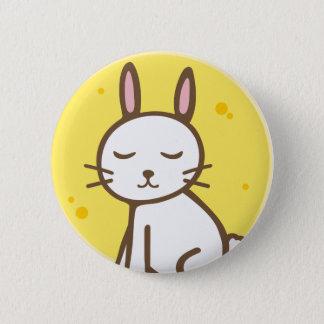 Moon rabbit 6 cm round badge