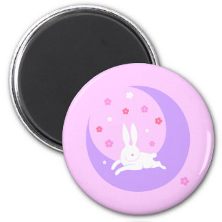 Moon rabbit magnet