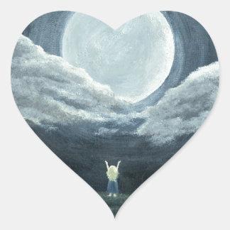 Moon Reach Heart Sticker