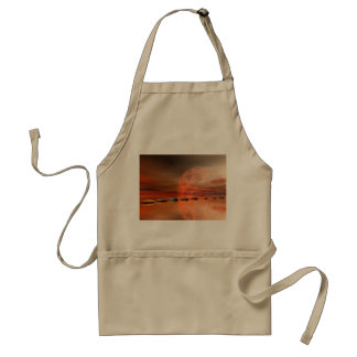 moon red and steps standard apron