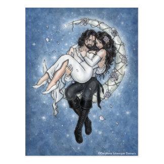 Moon Riders Romantic Love Postcard
