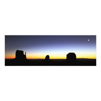 Moon rise at dawn over Monument Valley Arizona Photo Print
