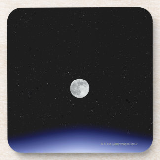 Moon rise over Earth Beverage Coasters