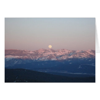 Moon Rise over the Sierra's Card