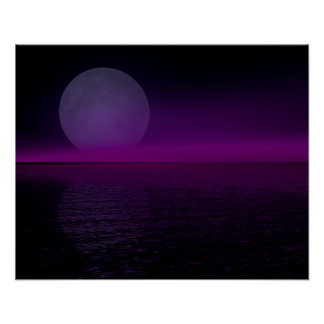 Moon Rise Pink Haze Flipped Posters
