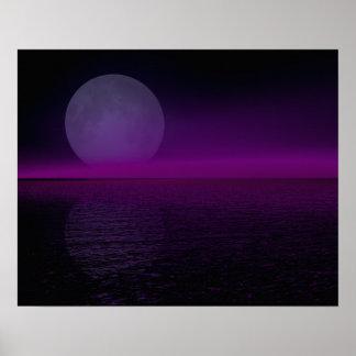 Moon Rise Pink Haze Flipped Poster