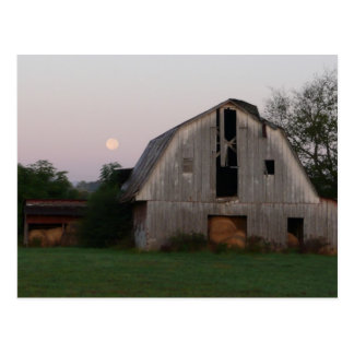 Moon Rising over Full Barn Postcard