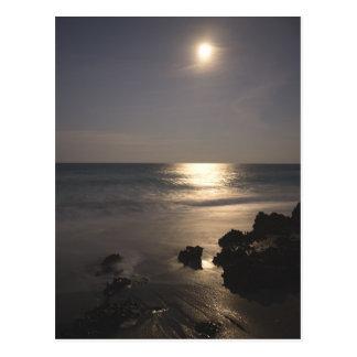 Moon Rising Over Ocean Postcard