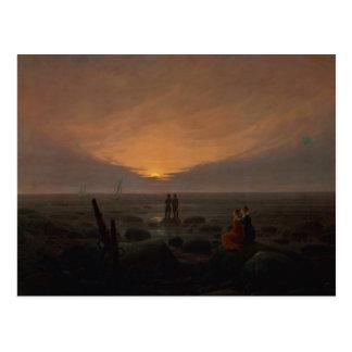 Moon Rising Over the Sea, 1821 Postcard