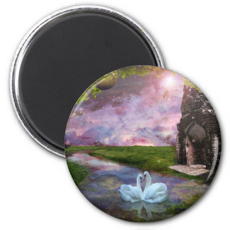 Moon River.. 6 Cm Round Magnet
