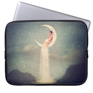 Moon River Lady Laptop Sleeve