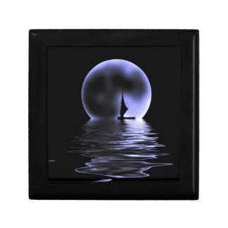 Moon Sailboat Small Square Gift Box