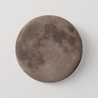 Moon satellite lunar moonlight 6 cm round badge