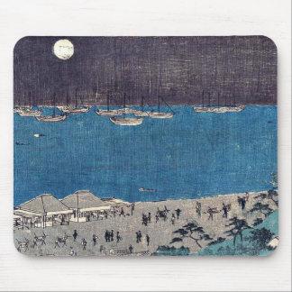 Moon scene at Takanawa by Andō, Hiroshige Ukiyo-e Mouse Pads