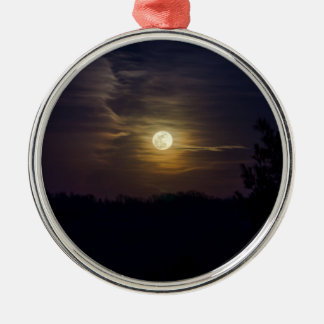 Moon Silhouette Metal Ornament