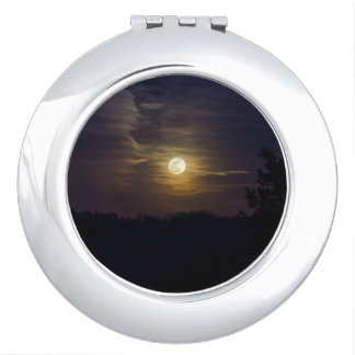 Moon Silhouette Travel Mirror